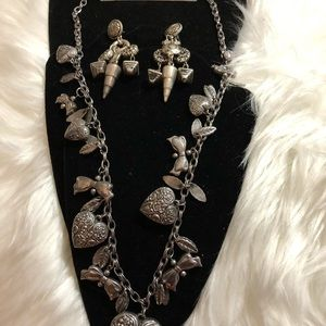 Costume Rustic Silver Look Like Necklace Set!!!